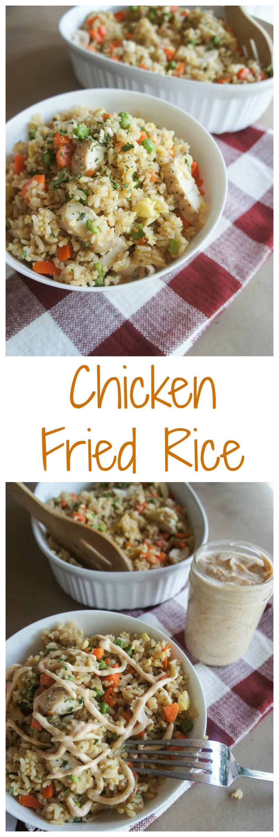 Chicken Fried Rice. The perfect, hassle free summertime dinner ready in less than 30 minutes!