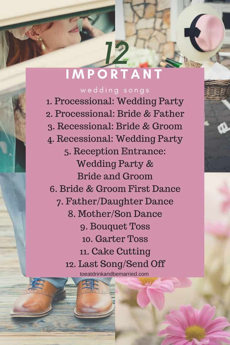 12 important wedding day songs that should be at every wedding.