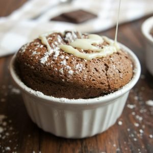 3 Ingredient chocolate souffles are the perfect luxurious, yet incredibly easy, dessert for any occasion! Topped with condensed milk, this is a dessert you won't soon forget!