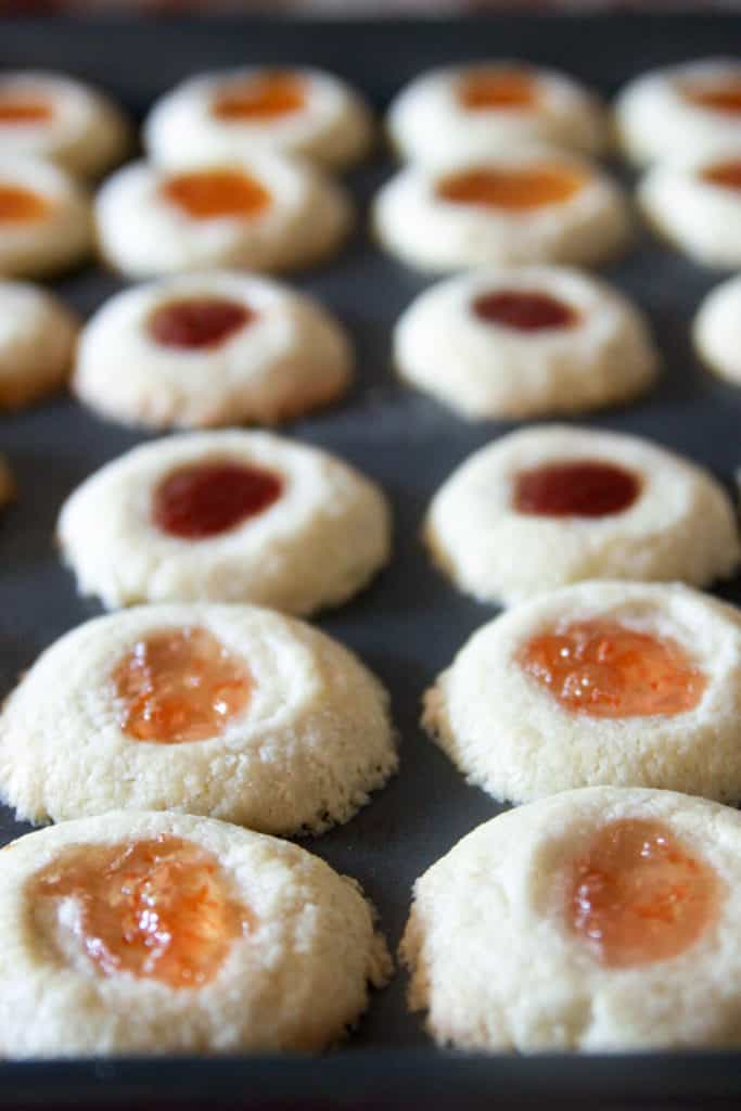 Jam Shortbread Cookies are the perfect buttery and sweet treat!