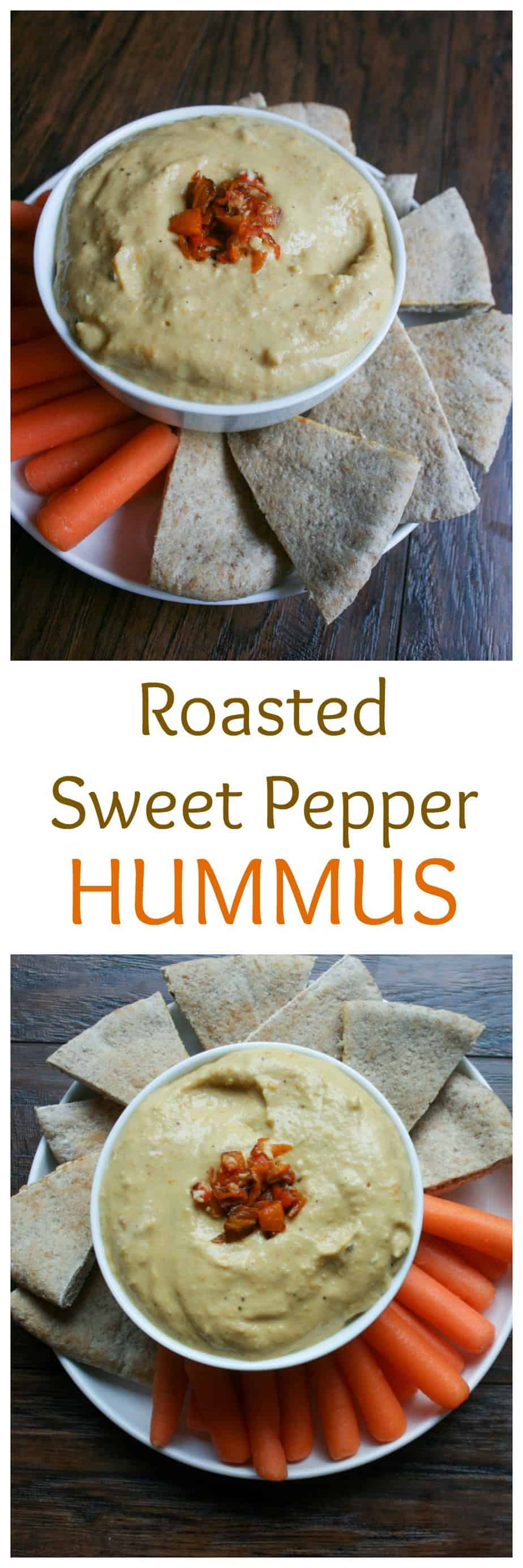 Sweet Pepper Hummus is the perfect appetizer when you want something filly, salty and sweet all at the same time!