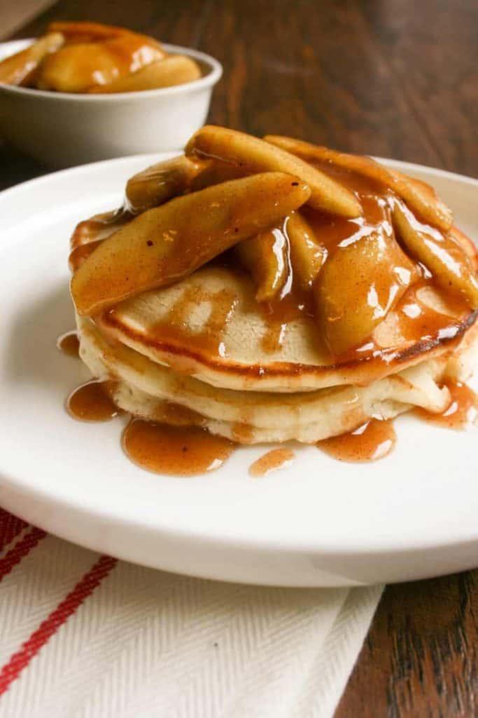 Apple Topped Pancakes