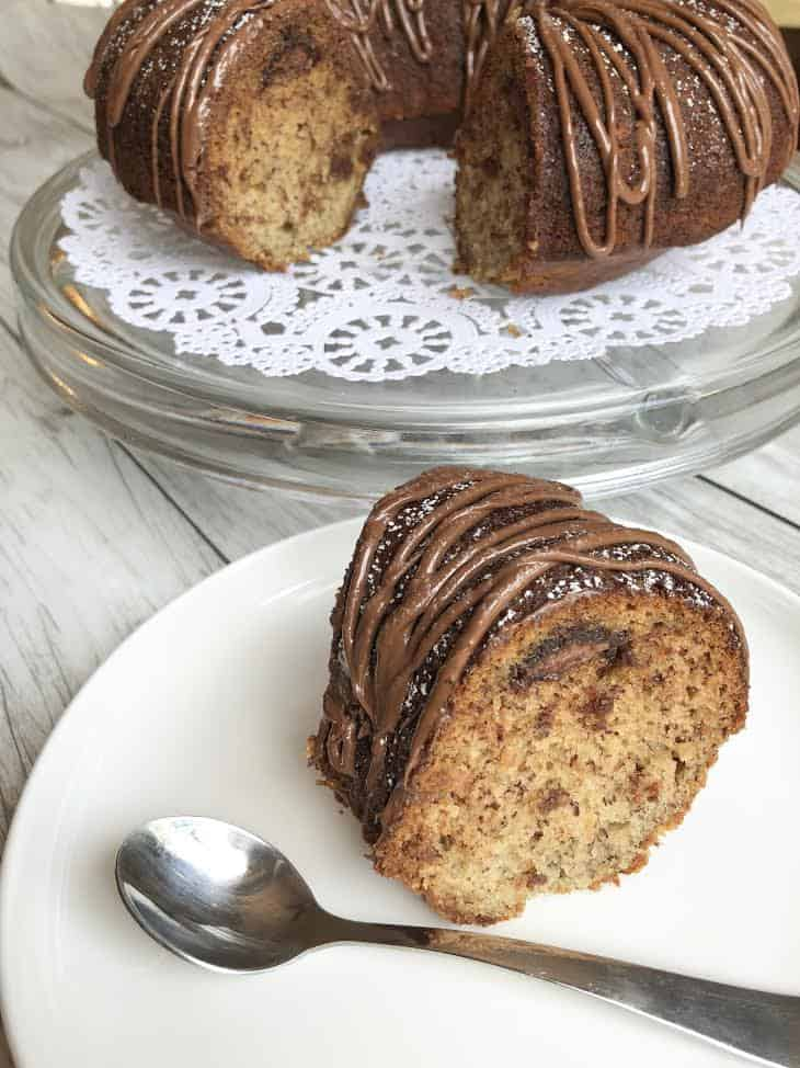 1 bowl Banana Nutella Bundt Cake