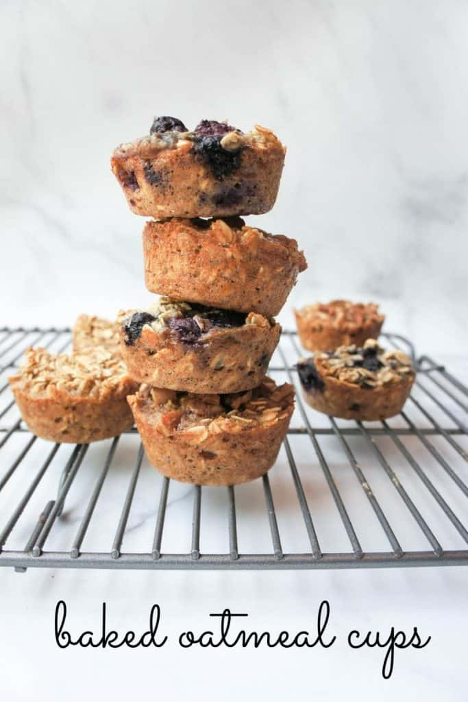 Baked Oatmeal Cups for breakfast on the go