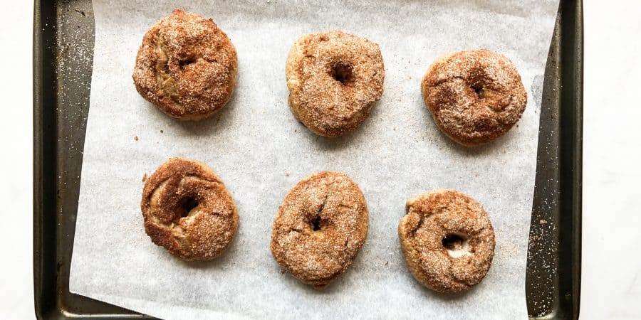 Cinnamon Sugar Crunch Bagels