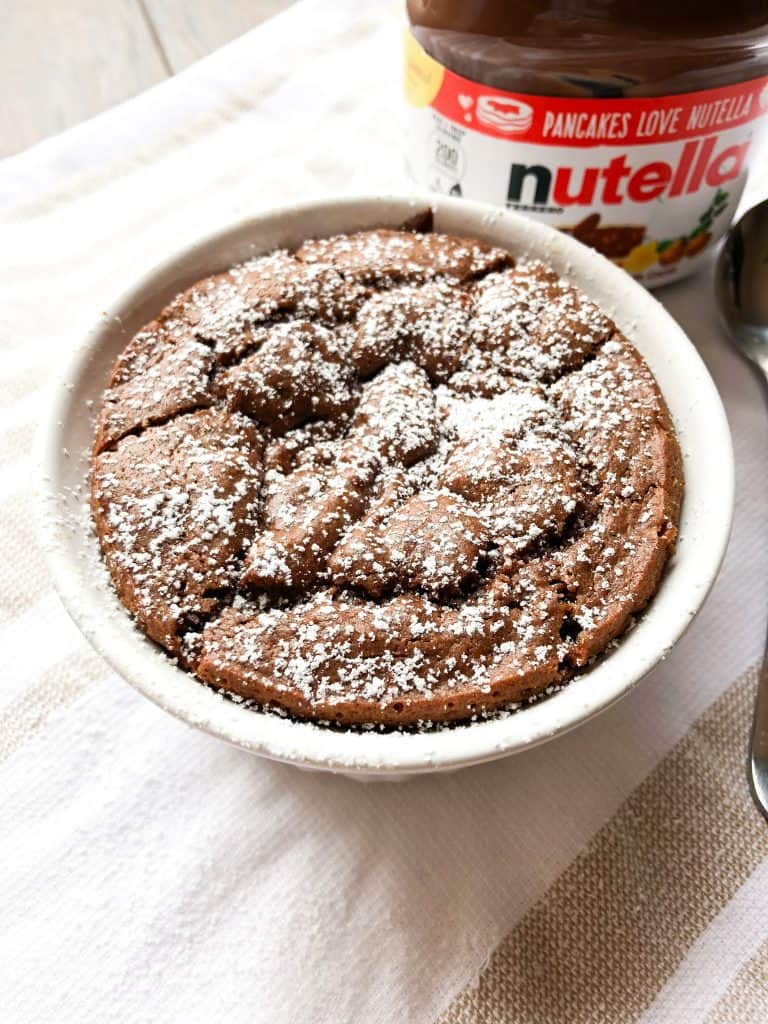 4 Ingredient Nutella Lava Cake for One