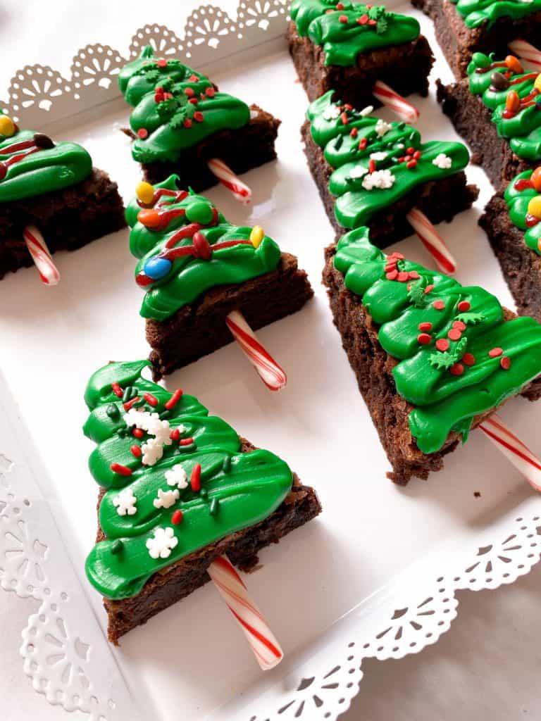 Christmas Tree Shaped Boxed Brownies
