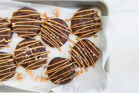 Brownie Peanut Butter Cookies