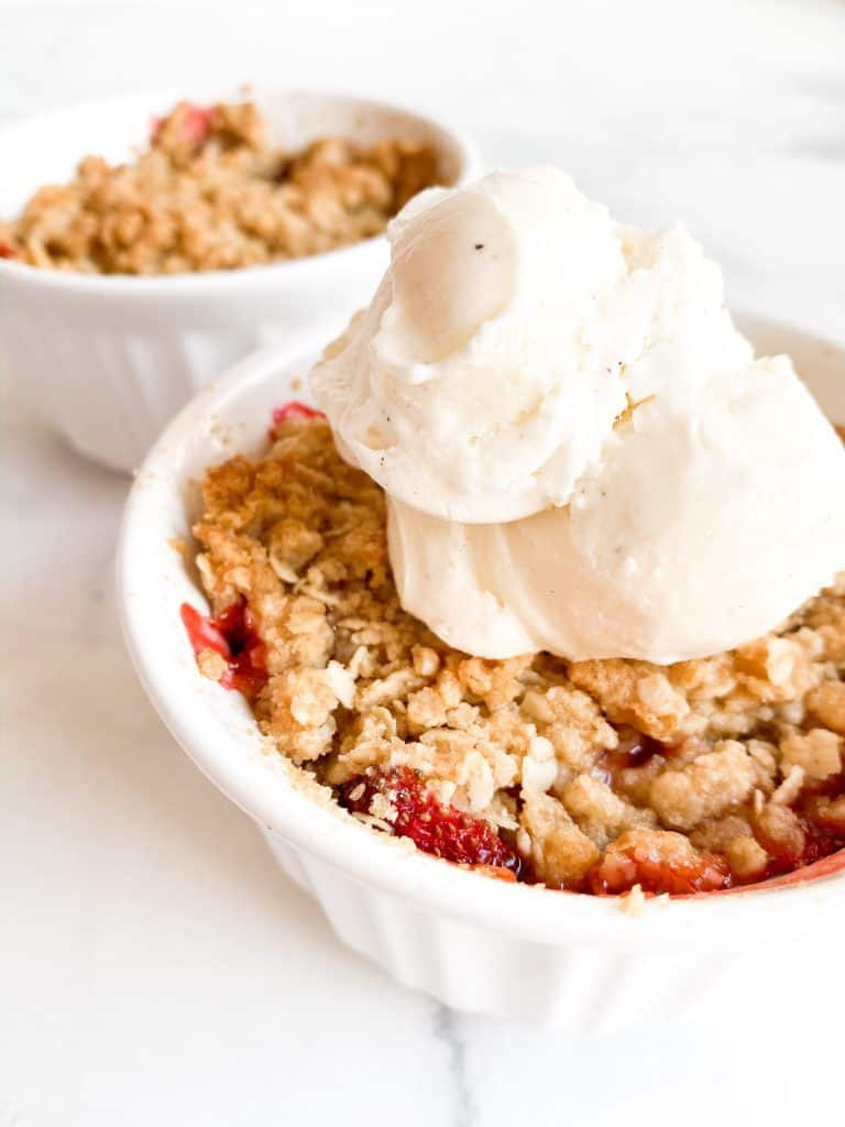 Strawberry Crumble for Two