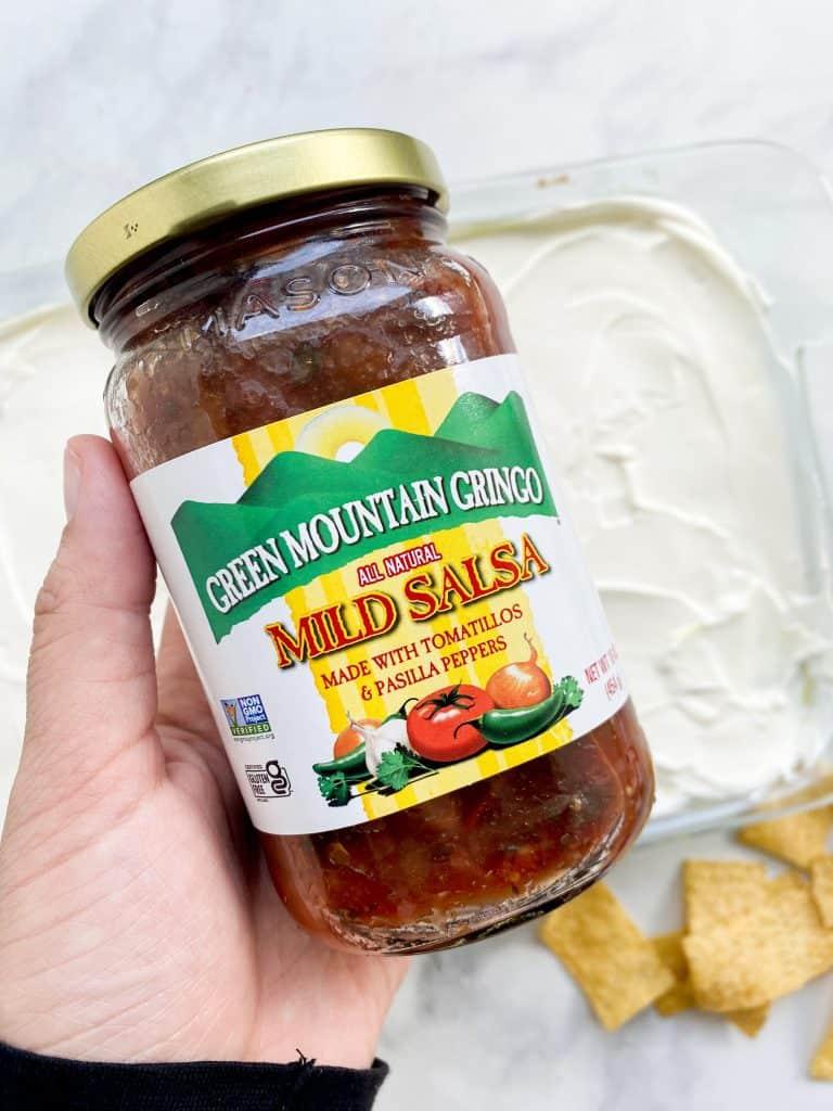 Bottle of salsa