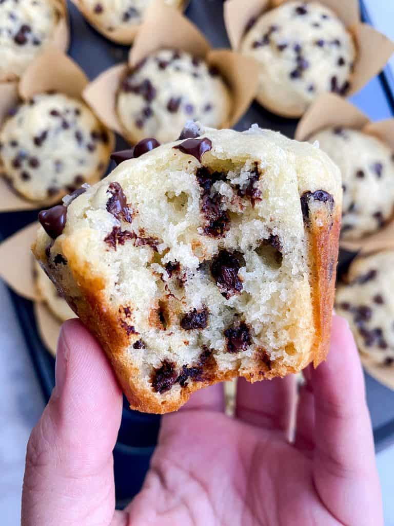 chocolate chip muffins bakery style